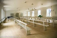 Christiansfeld, a Moravian Church Settlement - Christiansfeld, a Moravian Church Settlement: The worship room in the Sisters' House. During our visit, the church was renovated, but it was...