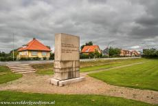 Christiansfeld, a Moravian Church Settlement - Christiansfeld, a Moravian Church Settlement: The Reunion Monument on Reunification Square. The stone was erected to commemorate the reunification...