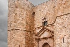 Castel del Monte - The main entrance to Castel del Monte. Castel del Monte has two entrances, a humble service entrance and the ornate main entrance. Castel del...