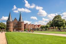 Hanseatic City of Lübeck - Hanseatic City of Lübeck: The imposing Holsten Gate, the Holstein Tor or the Holstentor, is one of the remaining city gates of Lübeck....