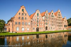 Hanseatic City of Lübeck - Hanseatic City of Lübeck: The Salzspeicher, the salt storehouses, along the Upper Trave River. The six historic storehouses were wholly...