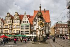 Town Hall and Roland on the Marketplace, Bremen - Town Hall and Roland on the Market Place of Bremen: Many Roland statues were erected in Germany and other parts of norhern and central Europe...