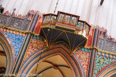 Historic Centre of Stralsund - Historic Centre of Stralsund: The colourful decorated interior of the Nikolaikirche, the Church of St. Nicholas. Stralsund was heavily damaged...