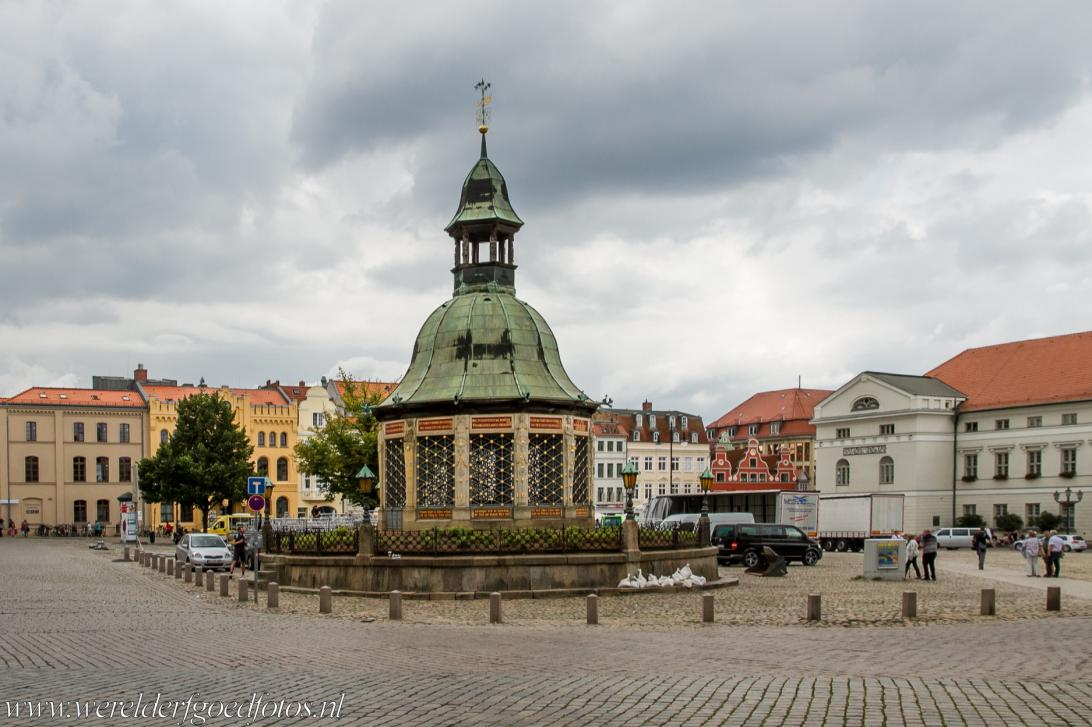 Historic Centre of Wismar - Historic Centre of Wismar: The Wasserkunst (Water Art) is a water fountain built of decorative stonework, limestone and wrought...