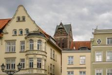 Historic Centre of Wismar - Historic Centre of Wismar: The tower of the St. Marienkirche, the Church of St. Mary, rises high above Wismar. The church was built in...