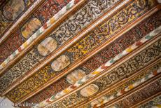 Historic Centre of Wismar - Historic Centre of Wismar: The decorative ceiling of the Church of the Holy Spirit. The flat ceiling was constructed and decorated in the...