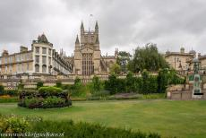 City of Bath - City of Bath: Bath Abbey viewed from the Parade Gardens. Bath Abbey is a former Benedictine monastery, it was founded in the 7th century. It...