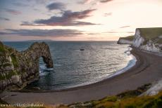 Dorset and East Devon Coast - The Dorset and East Devon Coast: Nightfall at Durdle Door, viewed from the South West Coast Path. Together with Lulworth Cove, Durdle...