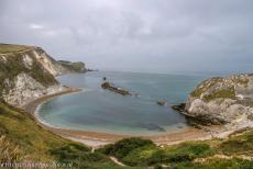 Dorset and East Devon Coast - The Dorset and East Devon Coast, the Jurassic Coast: The Man O' War Cove at daybreak, viewed from the South West Coast Path. Dungy Head...