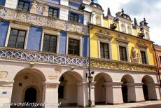 Old City of Zamość - Old Town of Zamość: The most beautiful houses on the Great Market Square are the Armenian Houses. The 17th century yellow painted...