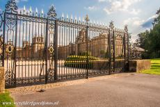 Blenheim Palace - The wrought iron gates guard the entrance to Blenheim Palace, the Great Court or North Court is situated behind the gates. Blenheim Palace...