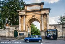 Blenheim Palace - Blenheim Palace: Our own Mini Monza in front of the Woodstock Gate, the gate is also known as the Triumphal Arch. The...
