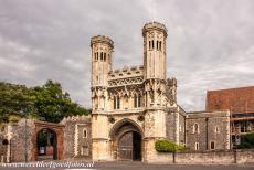 St. Augustine's Abbey in Canterbury - The Great Gate of St. Augustine's Abbey in Canterbury, the gatehouse was built between 1297-1309. The gate is also known as...