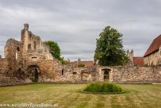 St. Augustine's Abbey in Canterbury - The ruins of the cloisters of St. Augustine's Abbey in Canterbury, the abbey was founded by the monk Augustine in 597. King...