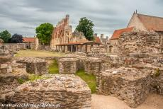 St. Augustine's Abbey in Canterbury - St. Augustine's Abbey in Canterbury: The ruins of Abbot Wulfric's Rotunda, the octagon shaped structure was built around 1050 to...