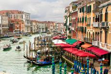 Venice and its Lagoon - Venice and its Lagoon: Gondolas on the Canal Grande viewed from the Accademia Bridge. The Canal Grande, the Grand Canal, is the main waterway...