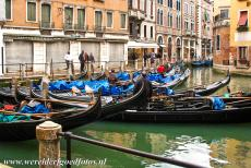 Venice and its Lagoon - Venice and its Lagoon: Gondolas on the Canal Grande in Venice. Cars are banned in Venice. The only way to get around is by foot and by boat, a...