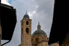 Historic Centre of Urbino - Historic Centre of Urbino: The dome of the Urbino Cathedral and its Campanile. The Urbino Cathedral is situated in the centre of the...
