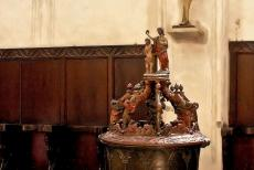 Medieval Town of Torun - Medieval Town of Toruń: The baptismal font in the Church of  St. John the Baptist and St. John the Evangelist was used for baptizing...