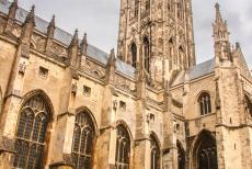 Canterbury Cathedral - Canterbury Cathedral: St. Augustine founded the cathedral in 597. Canterbury Cathedral was badly damaged during Viking raids in 1011. It...