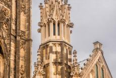 Canterbury Cathedral - A pinnacle of the Canterbury cathedral.