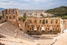 Acropolis of Athens - Acropolis of Athens: The Odeon of Herodes Atticus was built in the year 161, it was built during the Roman period by the Greek aristocrat and...