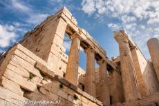 Acropolis of Athens - Acropolis, Athens: The Propylaea served as the main entrance to the Acropolis, it is situated just below the Temple of Nikè. The...