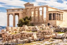 Acropolis of Athens - Acropolis of Athens: The Erechtheum seen from the southwest. The Ionic temple was built in the period 421-407 BC, it was dedicated to the Greek...