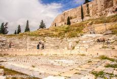 Acropolis of Athens - The Theatre of Dionysus is located on the south slope of the Acropolis of Athens, its remains are mostly from Roman times. The theatre already...