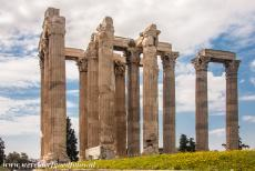 Acropolis of Athens - The Temple of Olympian Zeus, situated at the foot of the Acropolis of Athens, was dedicated to Zeus, the king of the Olympian gods....