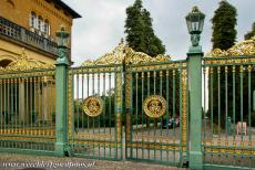 Palaces and Parks of Potsdam and Berlin - Palaces and Parks of Potsdam and Berlin: The Green Fence near the Church of Peace in Sanssouci Park in Potsdam. Sanssouci Park is an ensemble...