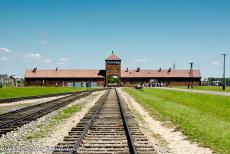 Auschwitz - Birkenau - Auschwitz - Birkenau German Nazi Concentration and Extermination Camp (1940-1945): The 'Gate of Death' and the unloading ramp. During...