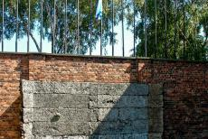 Auschwitz - Birkenau - Auschwitz - Birkenau German Nazi Concentration and Extermination Camp (1940-1945): A reconstruction of the execution wall, known as the Black...