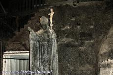 Wieliczka and Bochnia Royal Salt Mines - Wieliczka Salt Mine: The statue of the Polish-born Pope John Paul II was created in 1999 and is also carved out of salt. The mine has...