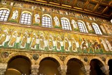 Early Christian Monuments of Ravenna - Early Christian Monuments of Ravenna: The Basilica Sant'Apollinare Nuovo is adorned with an early 6th century mosaic on the two side walls....