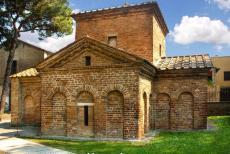 Early Christian Monuments of Ravenna - The Mausoleum of Galla Placidia was built in 425-450, the mausoleum is one of the oldest Early Christian Monuments in Ravenna. The...