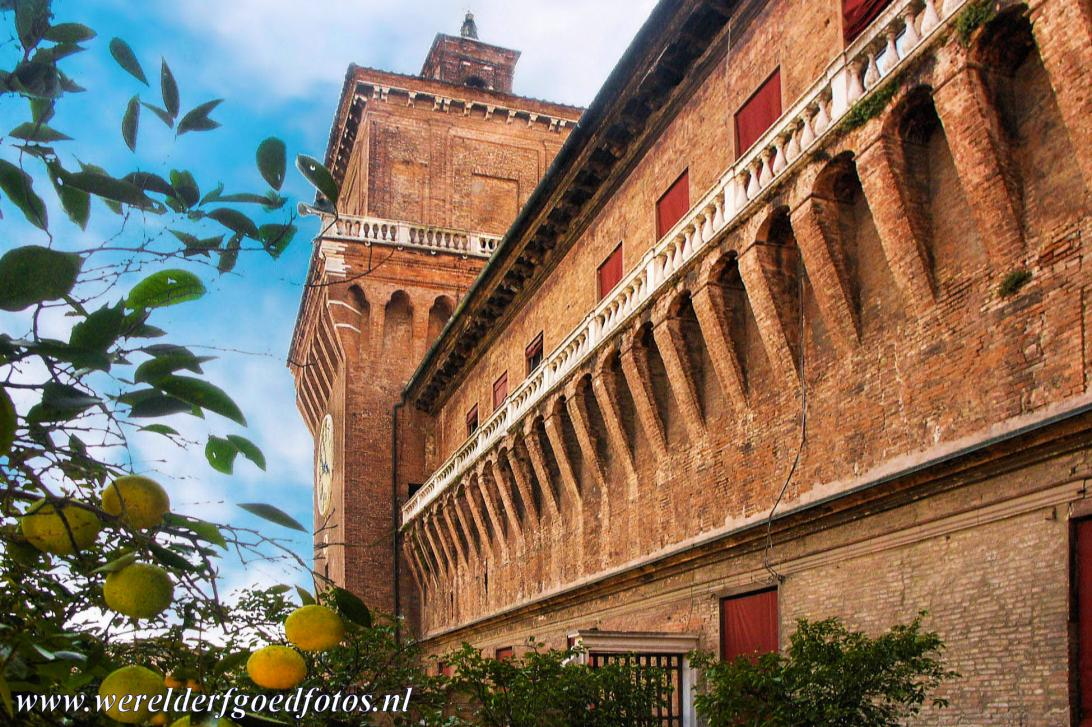 Ferrara, City of the Renaissance - Ferrara, City of the Renaissance, and its Po Delta: The Loggia and Garden of the Orange Trees of the Estense Castle, the ducal residence of the...