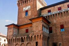 Ferrara, City of the Renaissance - Ferrara, City of the Renaissance, and its Po Delta: The imposing Lion's Tower is the watchtower of the Estense Castle. The...