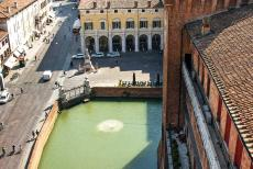 Ferrara, City of the Renaissance - Ferrara, City of the Renaissance, and its Po Delta: The city of Ferrara viewed from the Estense Castle. The construction of the Estense...