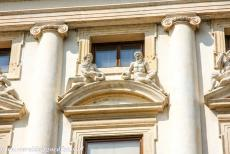 Vicenza and the Palladian Villas of the Veneto - City of Vicenza and the Palladian Villas of the Veneto: The main façade of the Palazzo Chiericati is adorned with the statues...