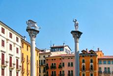 Vicenza and the Palladian Villas of the Veneto - City of Vicenza and the Palladian Villas of the Veneto: The Piazza dei Signori is the main square in Vicenza. The winged lion on top of the column...