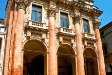 Vicenza and the Palladian Villas of the Veneto - The Loggia del Capitaniato in Vicenza was designed by Andrea Palladio in 1571. The main façade of this urban palace is divided by four...