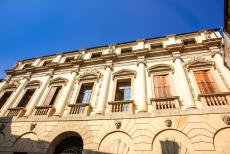 Vicenza and the Palladian Villas of the Veneto - City of Vicenza and the Palladian Villas of the Veneto: The main façade of the Palazzo Porto. The palace was designed by the...
