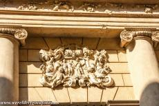 Vicenza and the Palladian Villas of the Veneto - City of Vicenza and the Palladian Villas of the Veneto: A detail of the main façade of the Palazzo Barbaran da Porto. The columns of the...