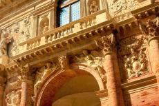 Vicenza and the Palladian Villas of the Veneto - City of Vicenza and the Palladian Villas of the Veneto: A detail of the main façade of the Loggia del Capitaniato. The...