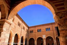 City of Verona - City of Verona: The courtyard of Palazzo della Ragione, the Palace of the Municipality of Verona, was built in the period 1193-1196. Over the...