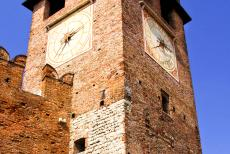 City of Verona - City of Verona: The clock tower of Castelvecchio Castle, the clock was added in the 19th century. The Castelvecchio is situated on the banks...