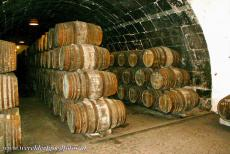 Historic Centre of Porto - Historic Centre of Porto: Numerous port barrels in one of the wine cellars. Porto is famous for the production of  port wine. There are...