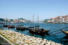 Historic Centre of Porto - Historic Centre of Porto: Traditional 'barcos rabelos' boats on the Douro River. The traditional wooden 'barcos rabelos'...