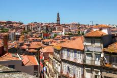 Historic Centre of Porto - Historic Centre of Porto: Porto and the Torre dos Clérigos, the tower of the Clergy, seen from the Terreiro da Sé, the...